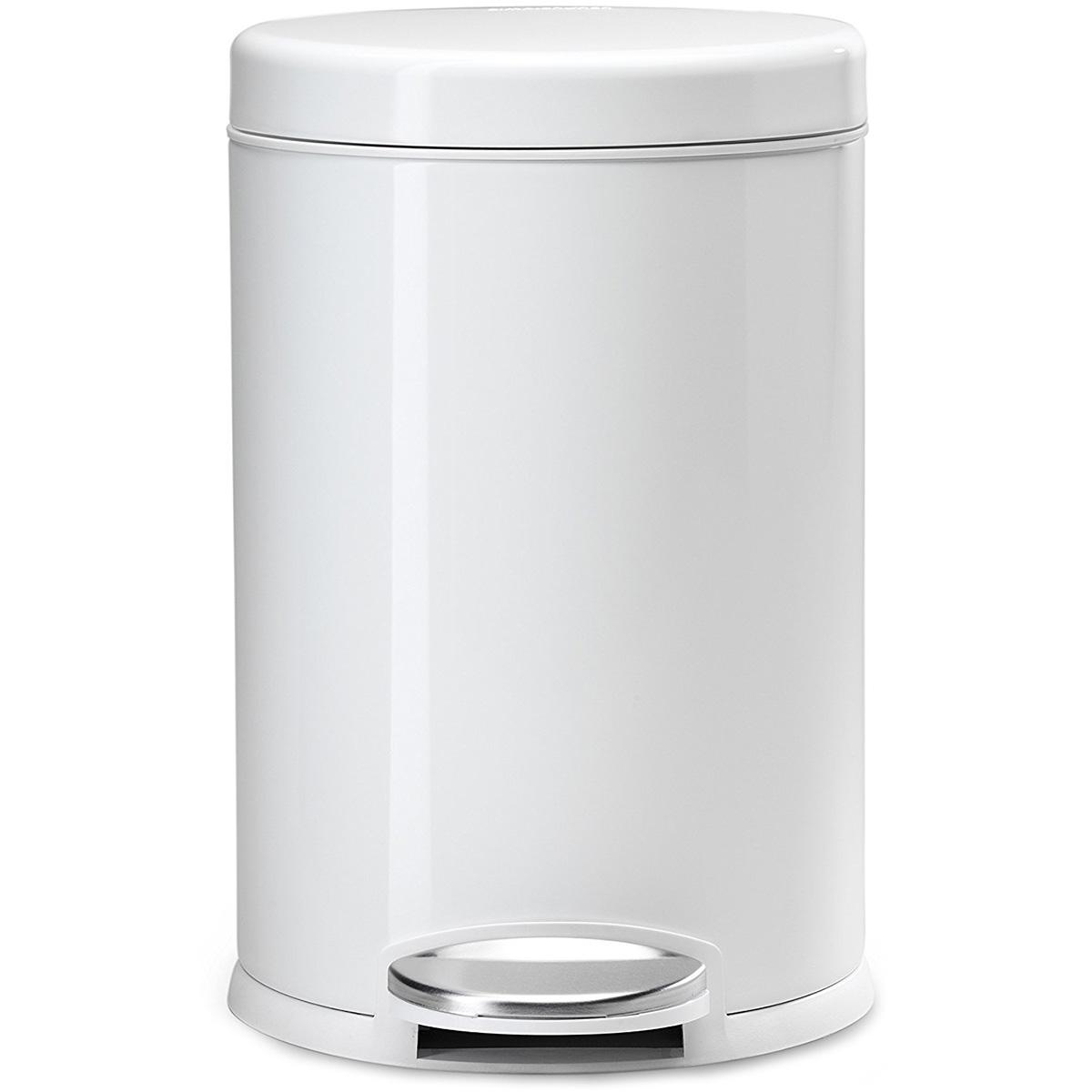 Biały Kosz Na śmieci 45 Litra Pedałowy Simplehuman Biały