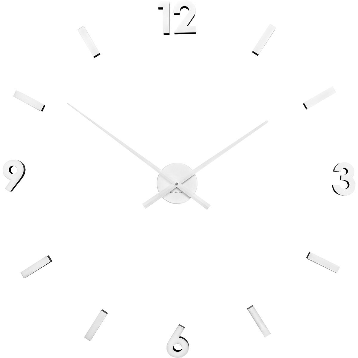 Biały Zegar Naklejany Na ścianę Extender Exitodesign