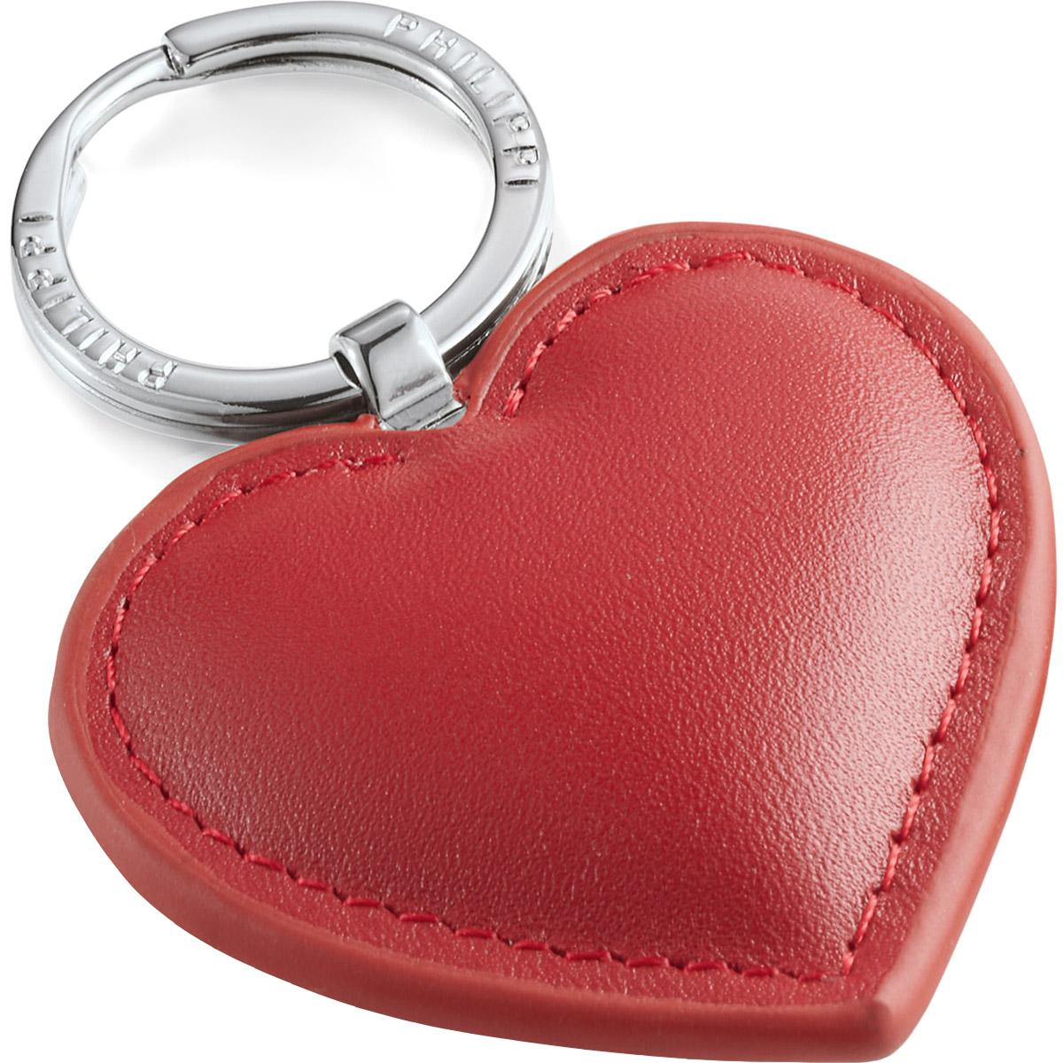 prezenty walentynkowe dla niego - Breloczek skórzany, czerwone serce