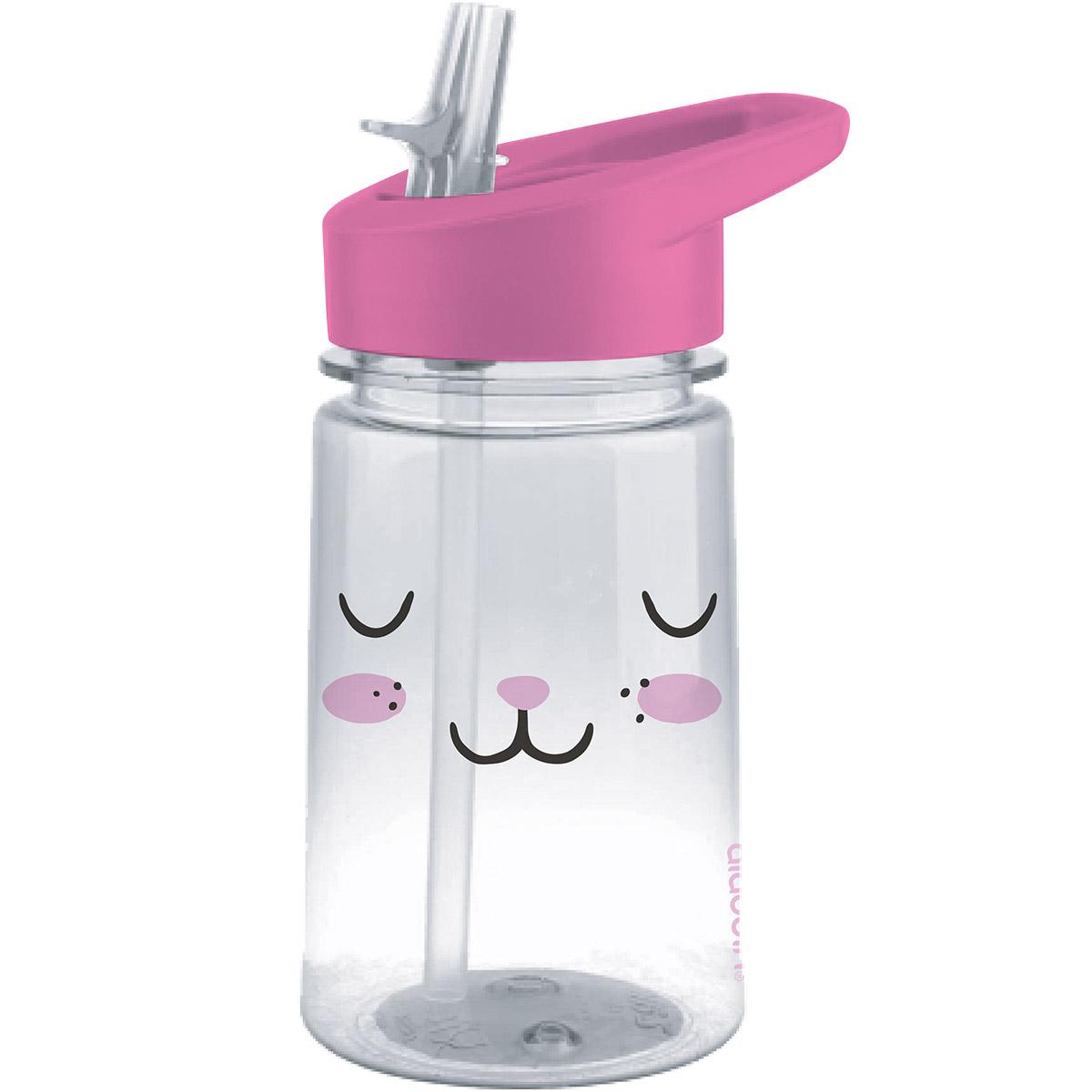 Butelka Na Wodę Dla Dzieci Z Rurką Królik Zoo Aladdin 035 Litra
