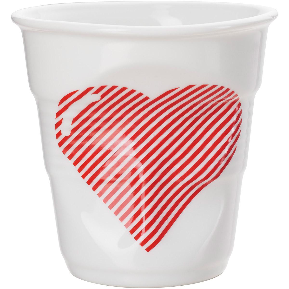 Kubek porcelanowy do kawy serce - walentynkowe prezenty