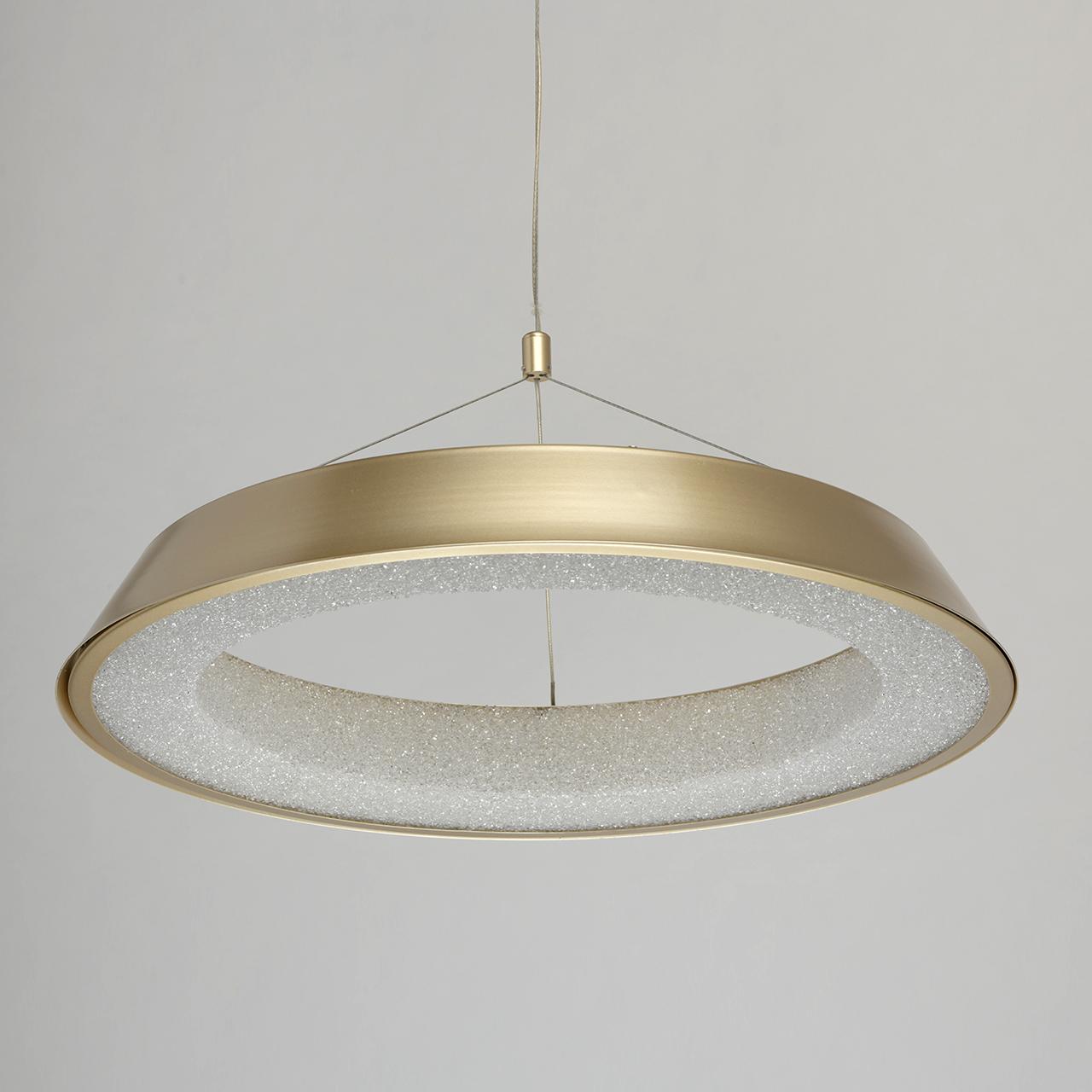 Lampa Led Do Jadalni Złota W Kształcie Pierścienia Wewnętrzny