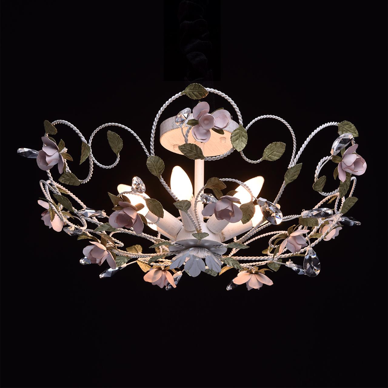 Lampa sufitowa kwiatowa