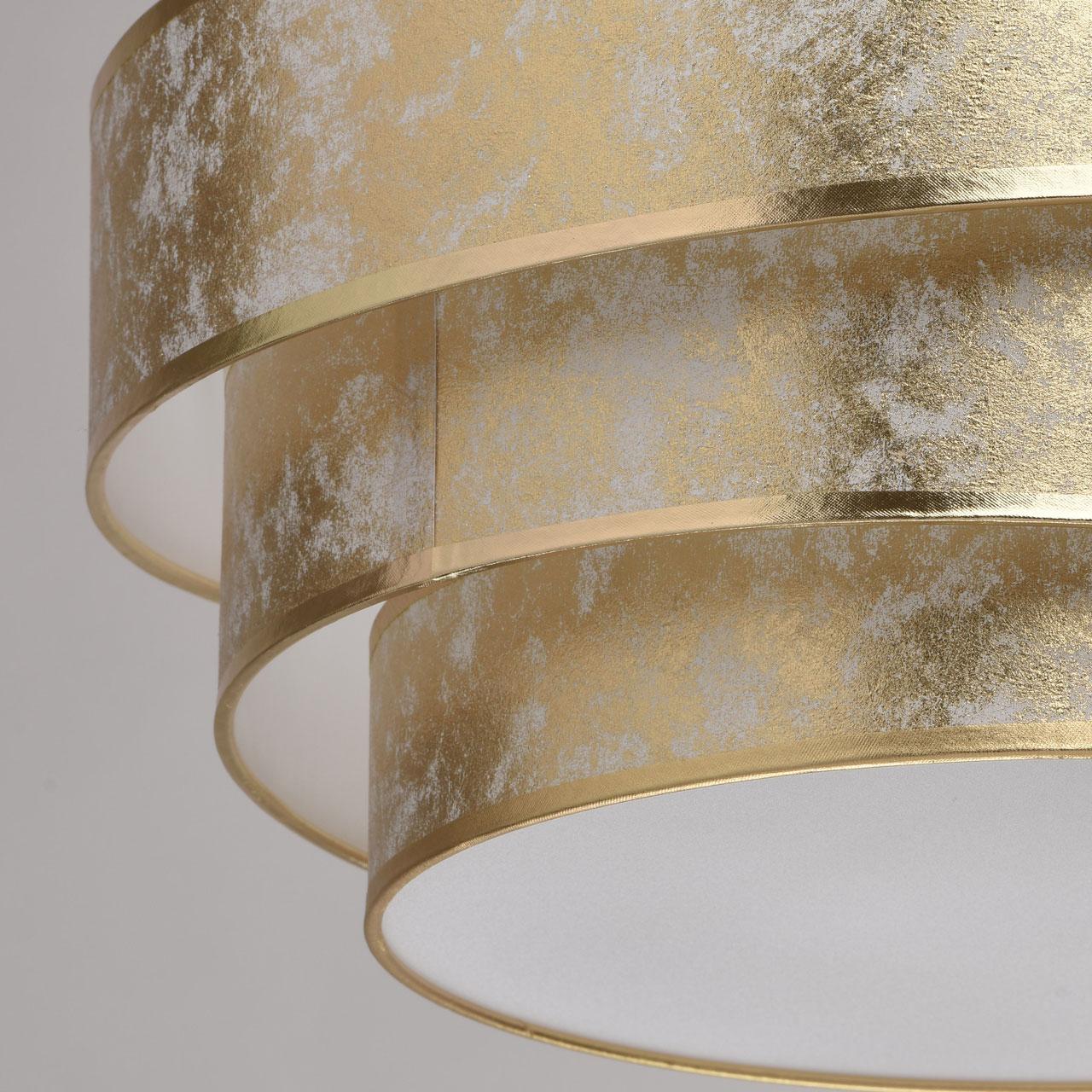 Lampa wisząca, trzy pozłacane okręgi Nora MW LIGHT Elegance