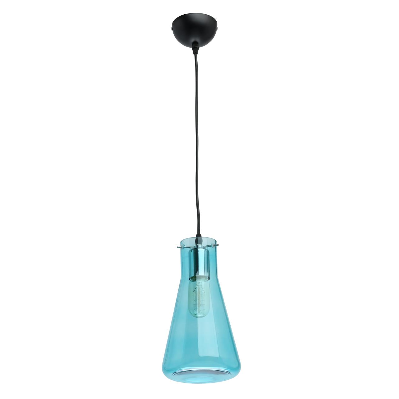 Lampa Wisząca W Kształcie Kolby Laboratoryjnej Mw Light Megapolis Błękitna