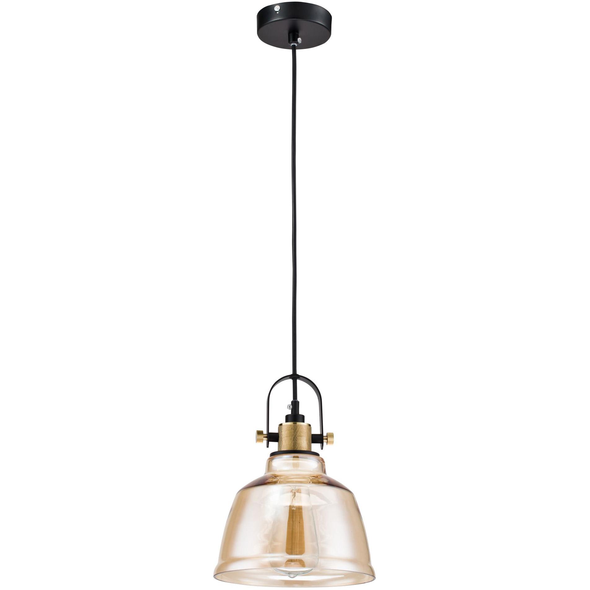 Lampka Loft wisząca do kuchni - bursztynowe szkło Irving Maytoni