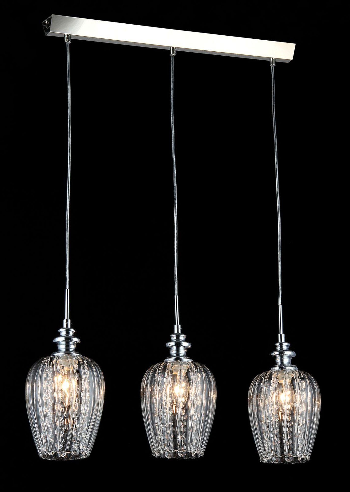 Lampy wiszące trzy szklane klosze do jadalni, kuchni Blues Maytoni Modern