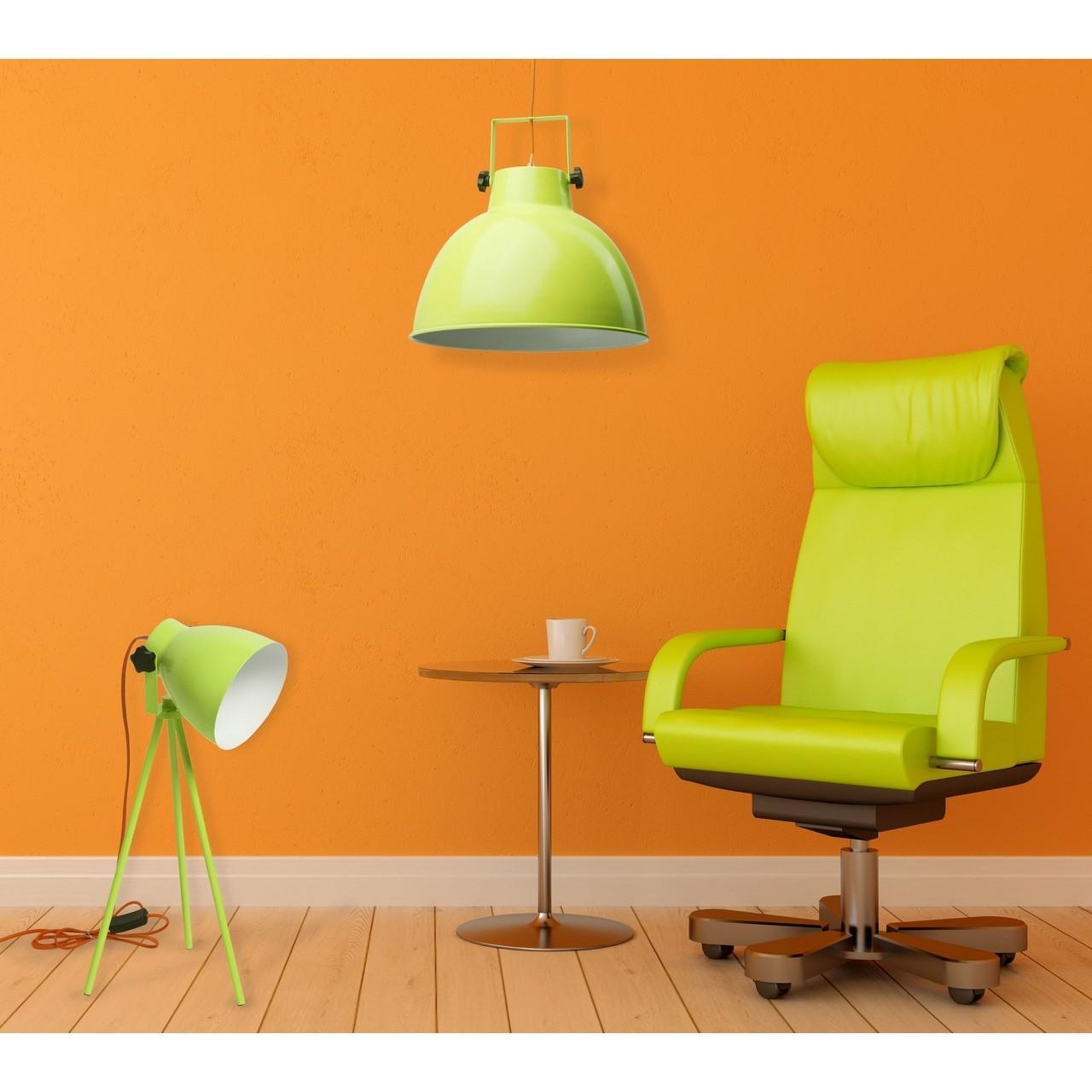 Wyprzedaż lamp stołowych: Limonkowa lampka stołowa
