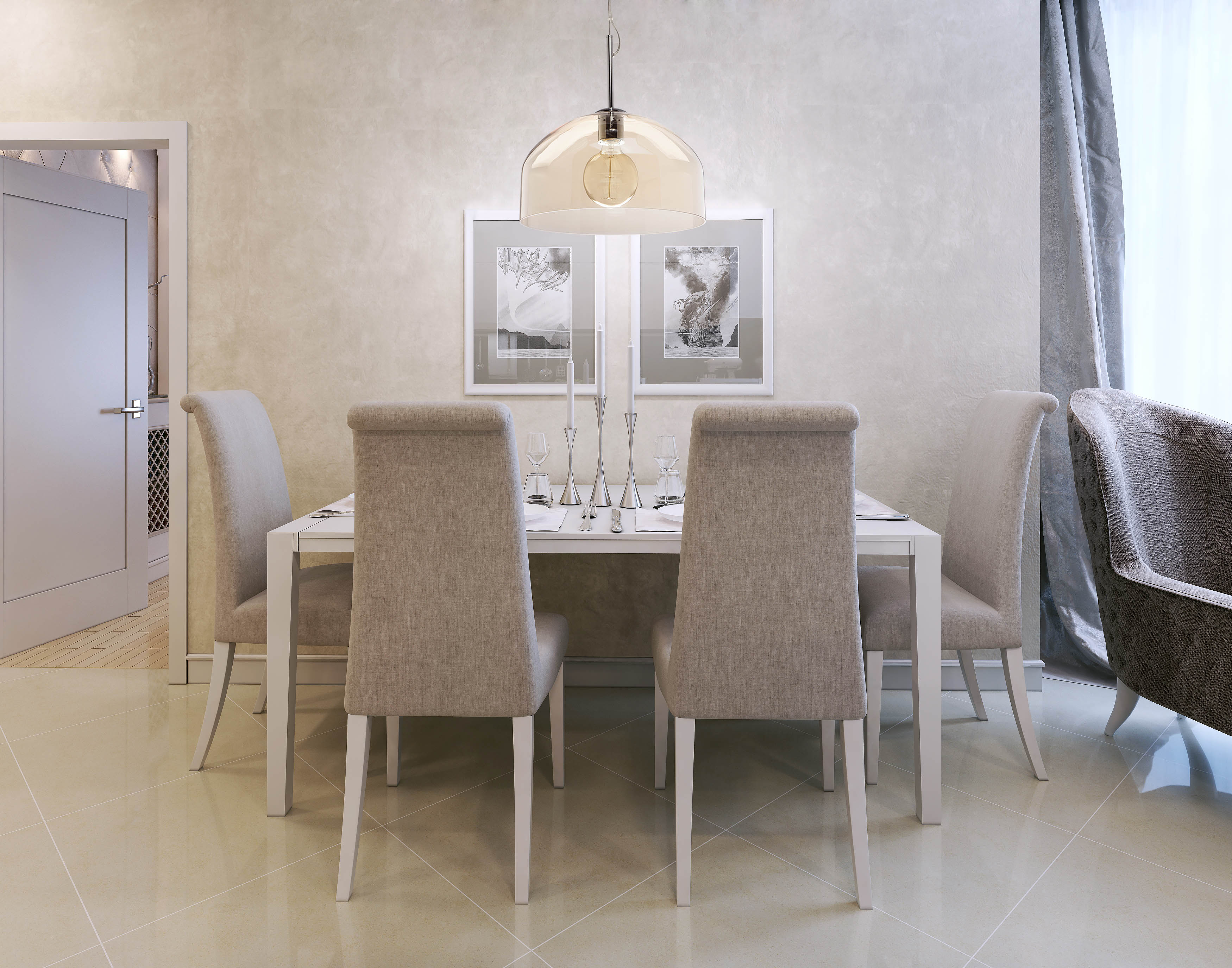 Szklana Lampa Wisząca Do Salonu Kuchni Jadalni Mw Light Elegance