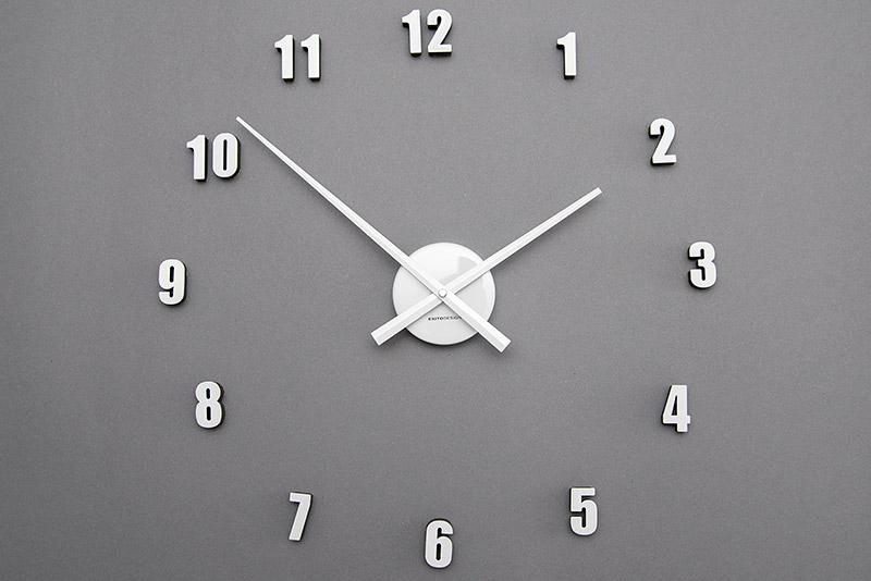 Biały Zegar Naklejany Na Scianę Extender Mini
