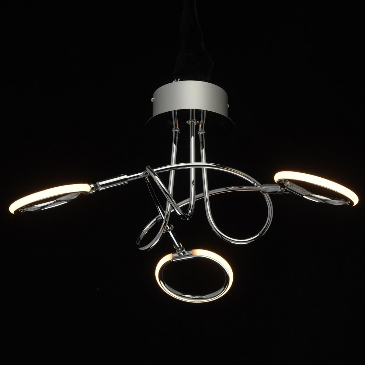 Nowoczesna Chromowana Lampa Sufitowa Trzy Okregi Led Demarkt Techno