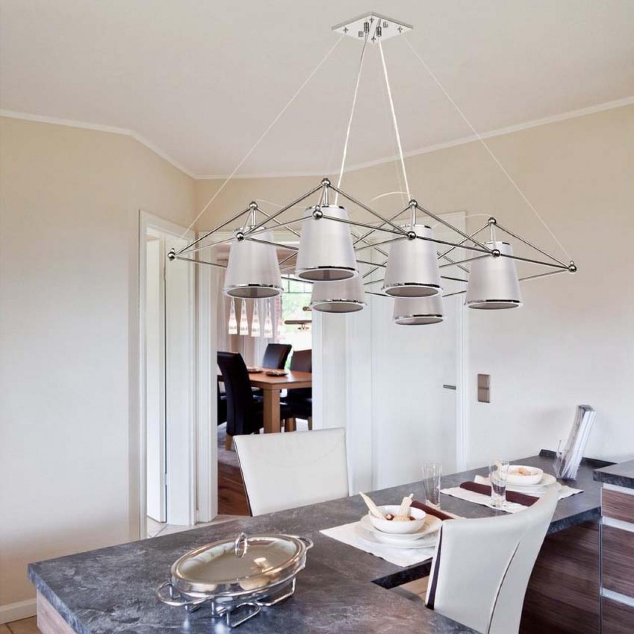 Wyprzedaż lamp wiszących: Nowoczesna lampa wisząca na sześć żarówek