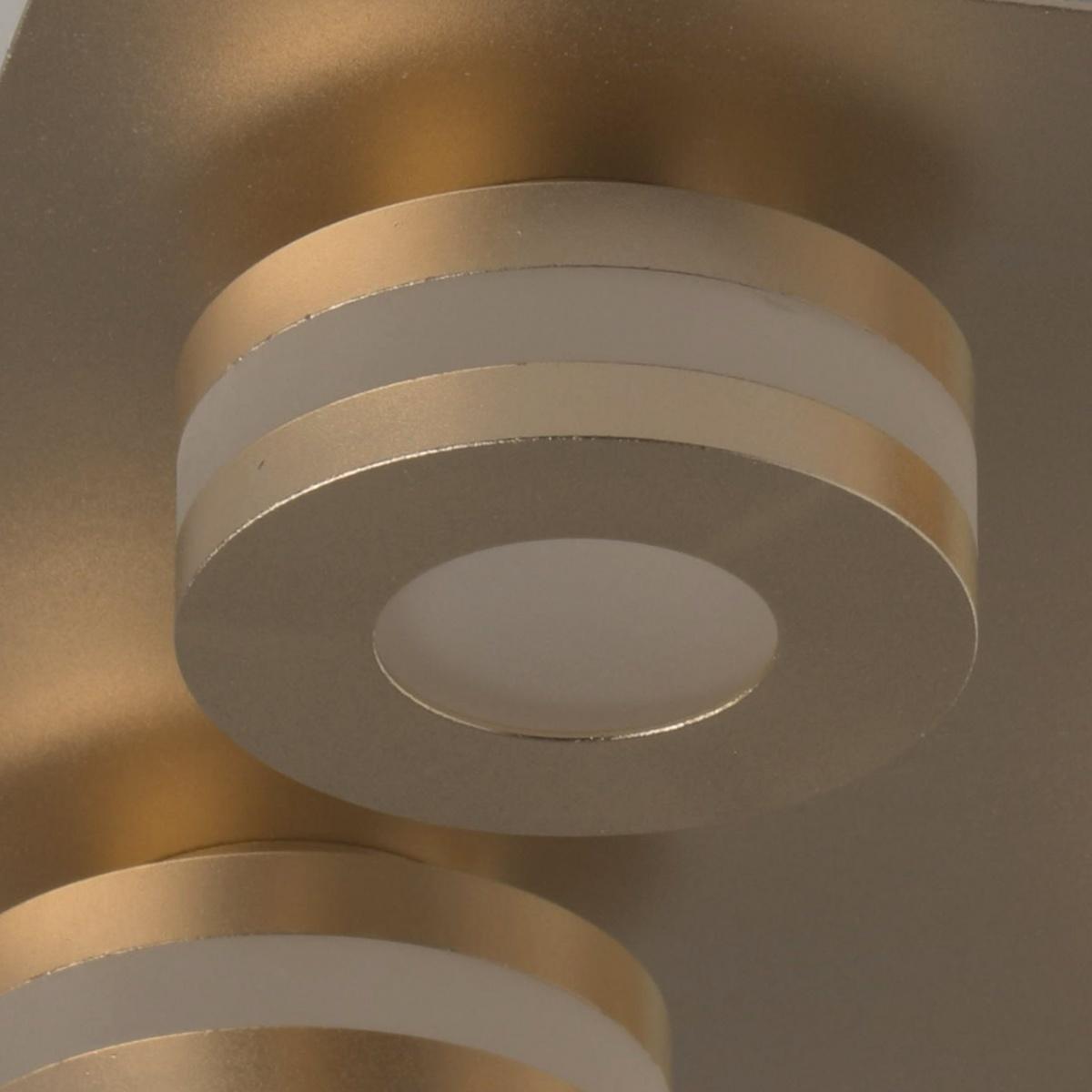 Oświetlenie łazienkowe Matowe Złoto 4 Punkty Led Demarkt Techno