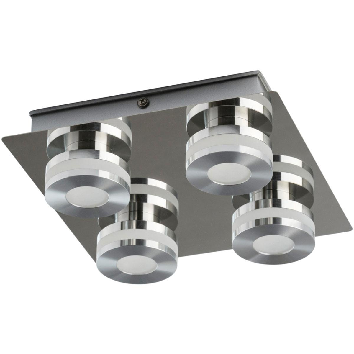 Oświetlenie Sufitowe Do łazienki Chromowane 4 Punkty Led Demarkt Techno