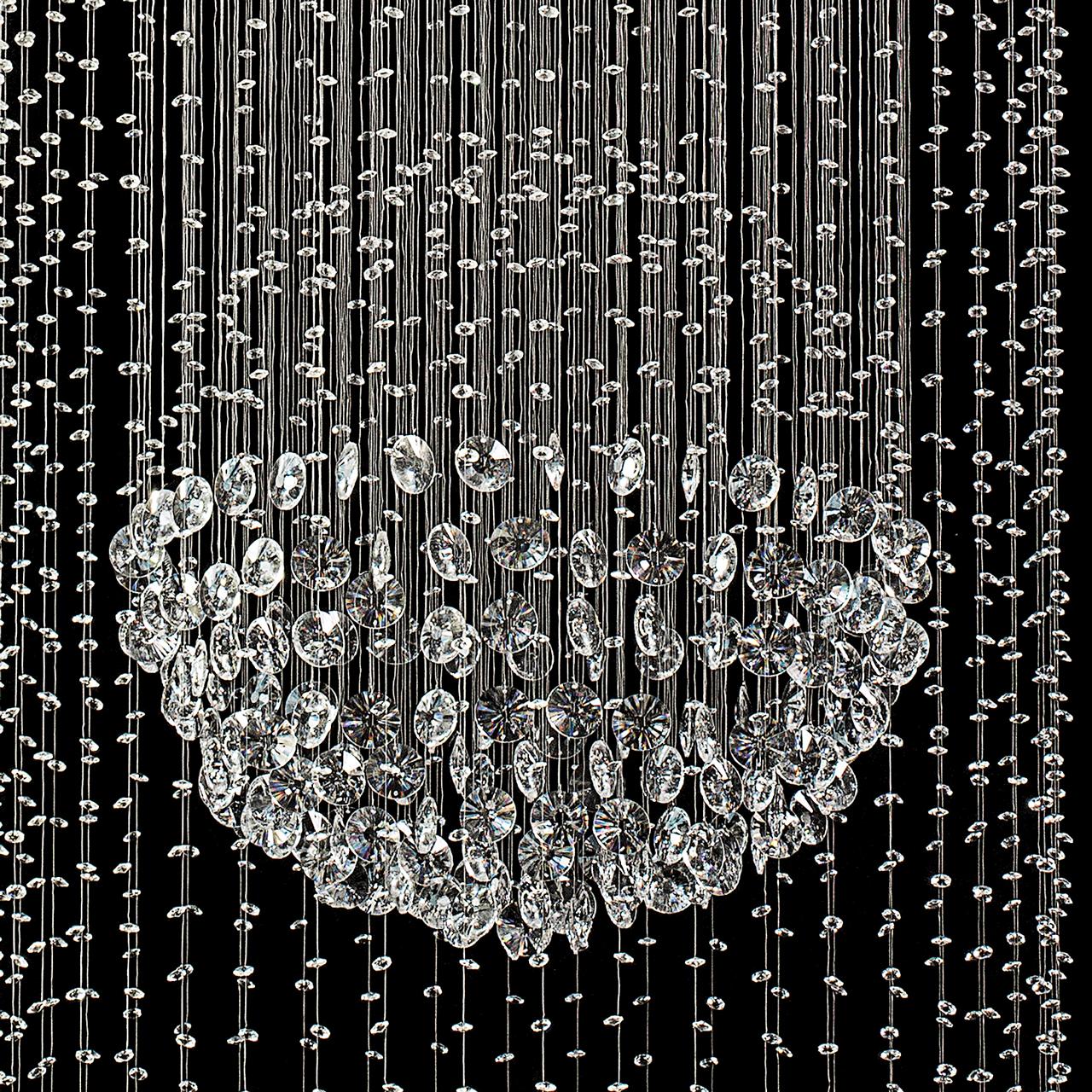 Oświetlenie Wiszące Do Salonu Kaskadowe Kryształy Chiaro Crystal