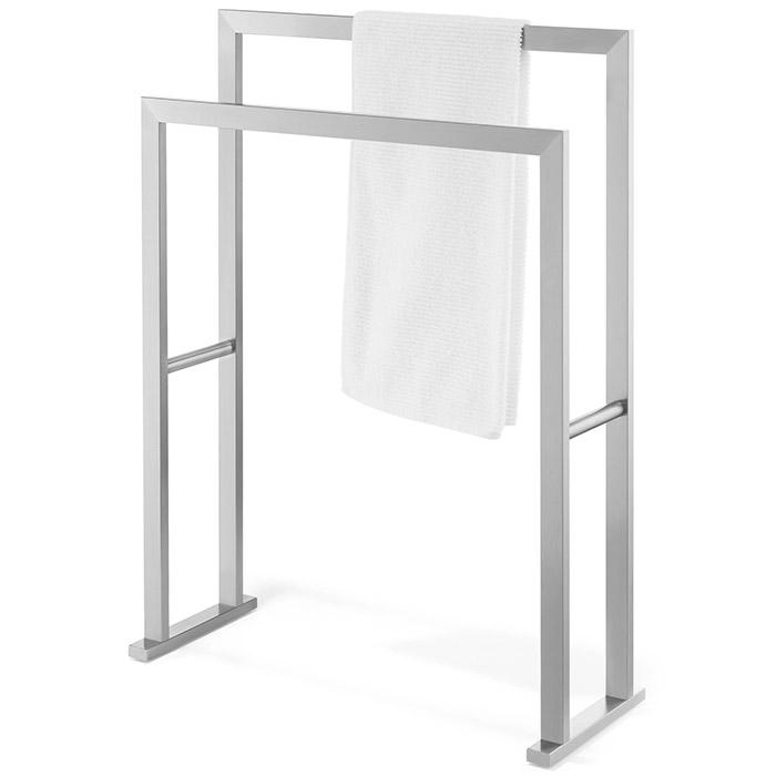 Stojak łazienkowy Na Dwa Ręczniki Linea Zack Stal Matowa