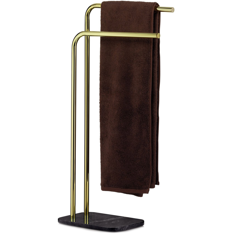 Stojak Złoty Do łazienki Na Dwa Ręczniki Kąpielowe Liron Kela