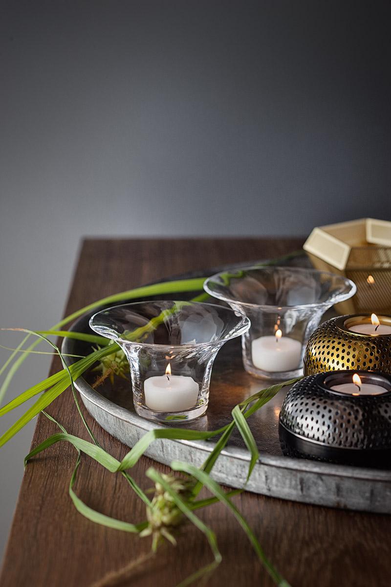 świecznik stylowy - aranżacja  w stylu prowansalskim