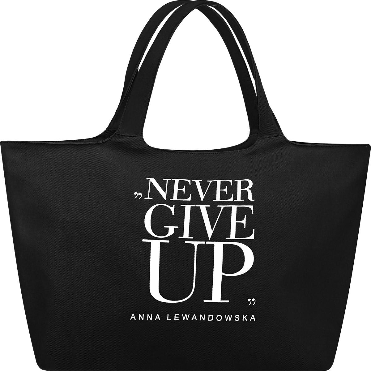 3f5a03a475c31 Torba na zakupy Never Give Up healthy plan by ann czarna - | sklep ...