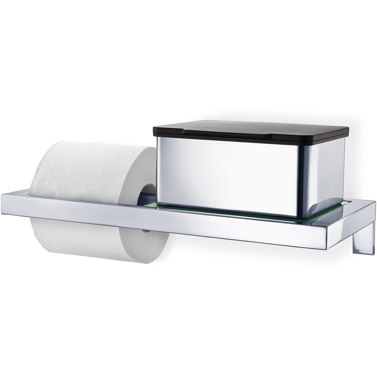 uchwyt na papier toaletowy ze szklan p k blomus menoto. Black Bedroom Furniture Sets. Home Design Ideas