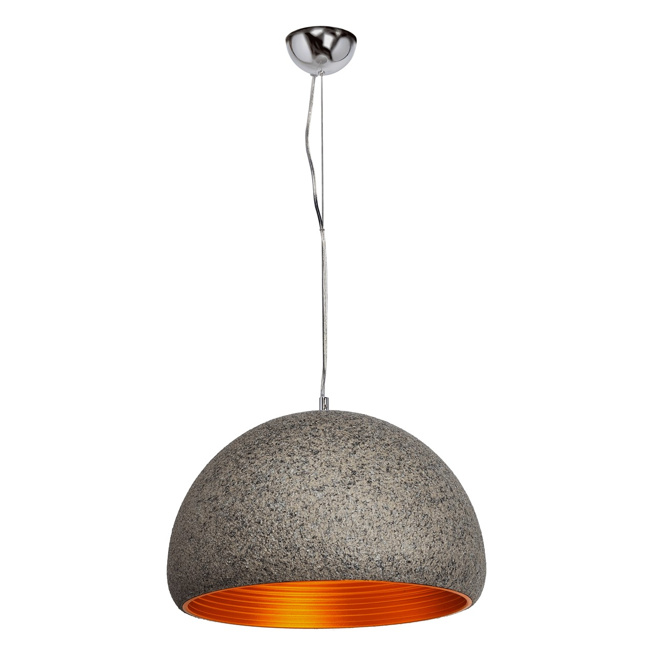 Wisząca lampa sufitowa o nowoczesnym kloszu RegenBogen