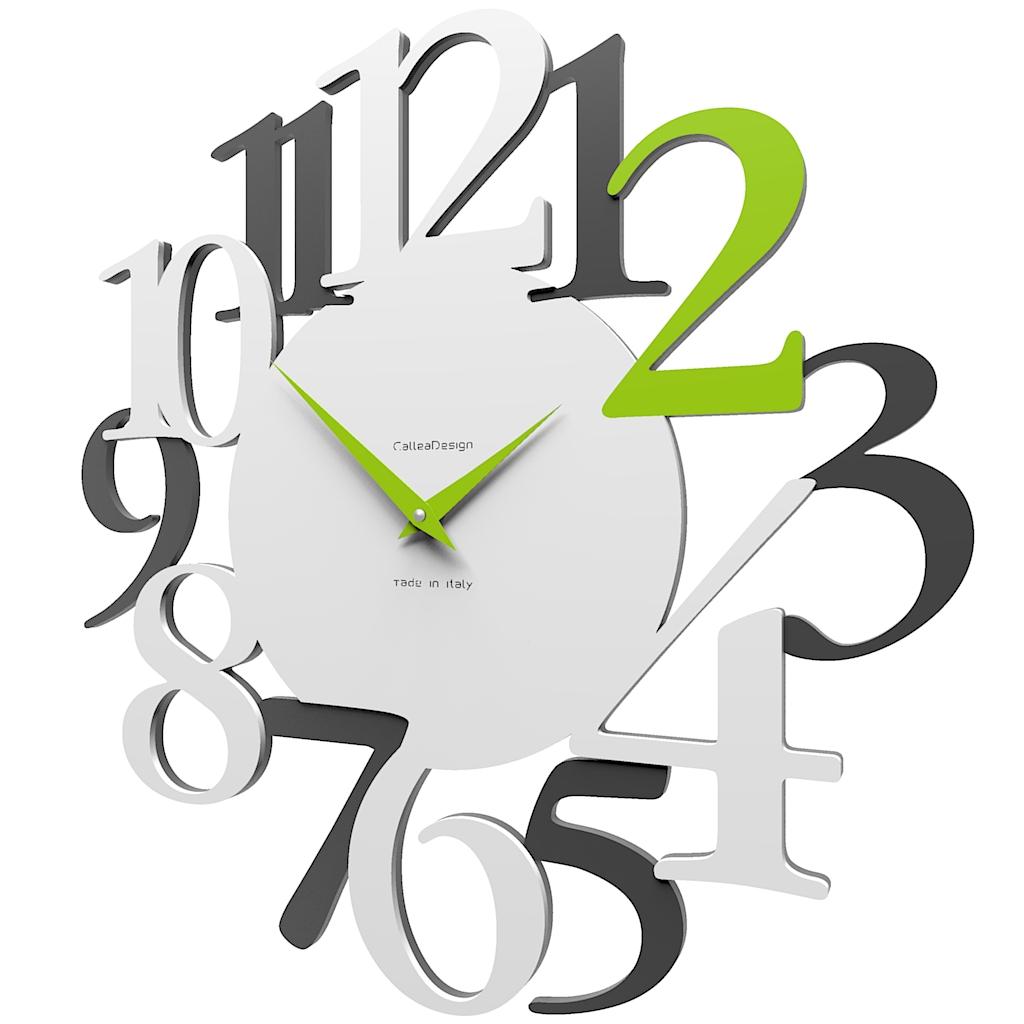 Zegar ścienny Russell Calleadesign Biały Szary Zielony