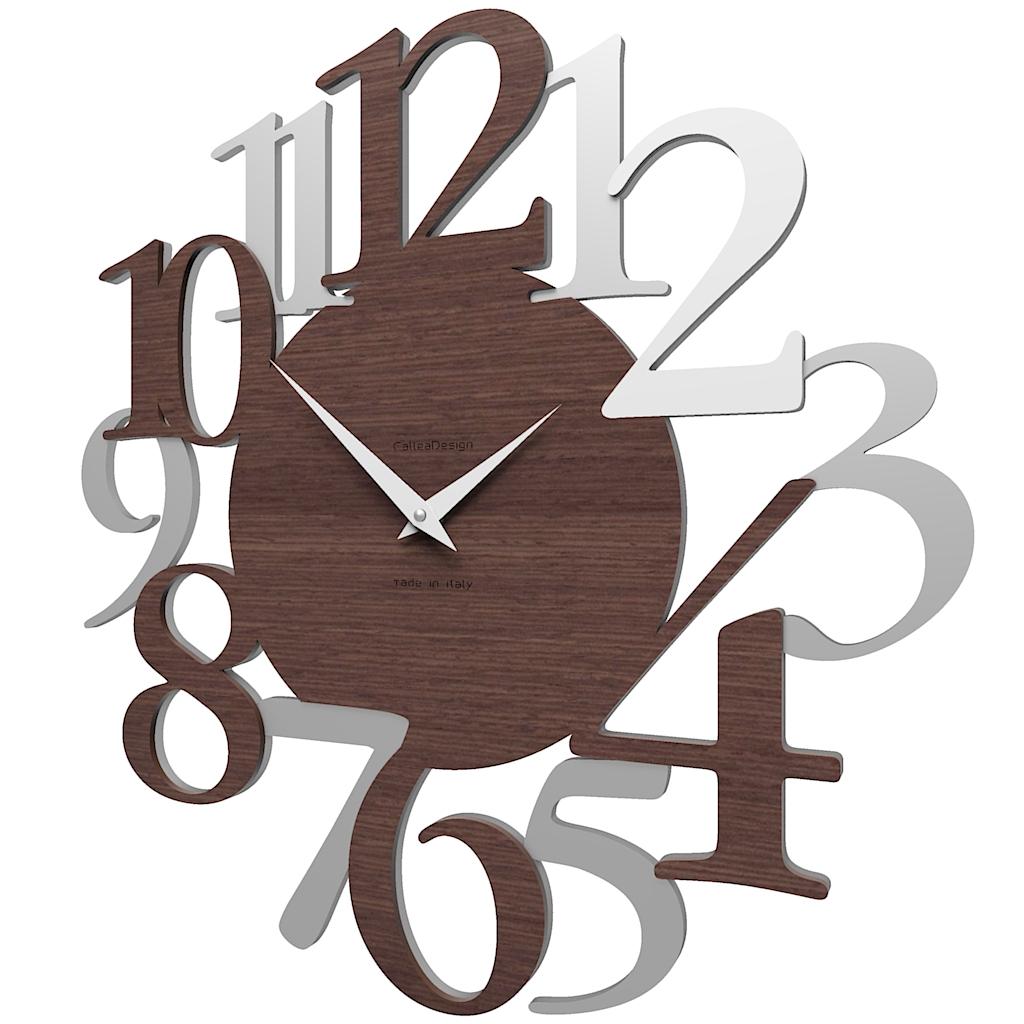 Zegar ścienny Russell Calleadesign Wenge Biały Szary
