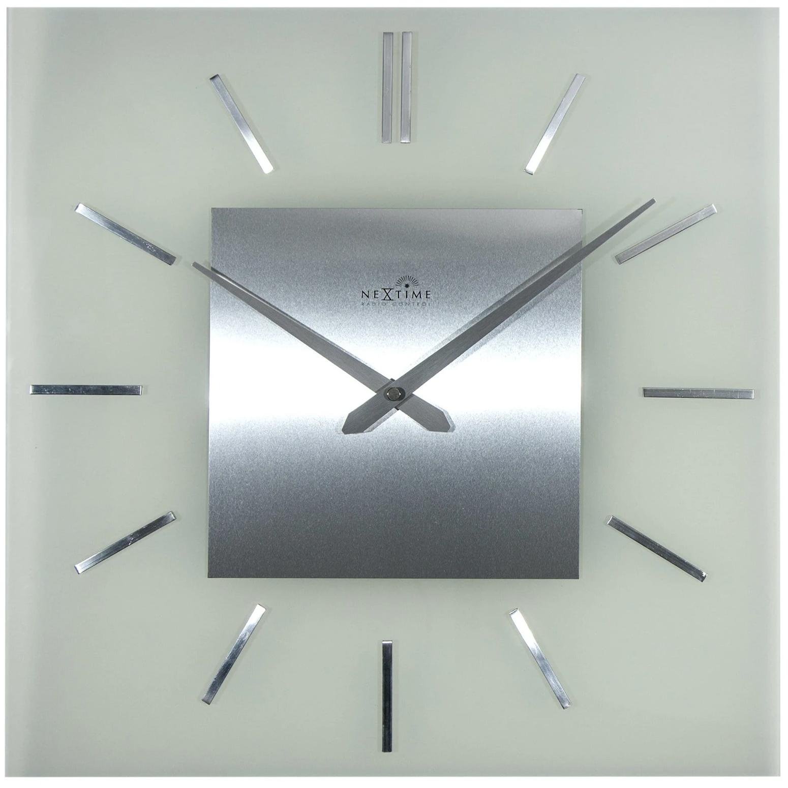 Zegar ścienny Sterowany Radiowo Stripe Nextime 40 X 40 Cm