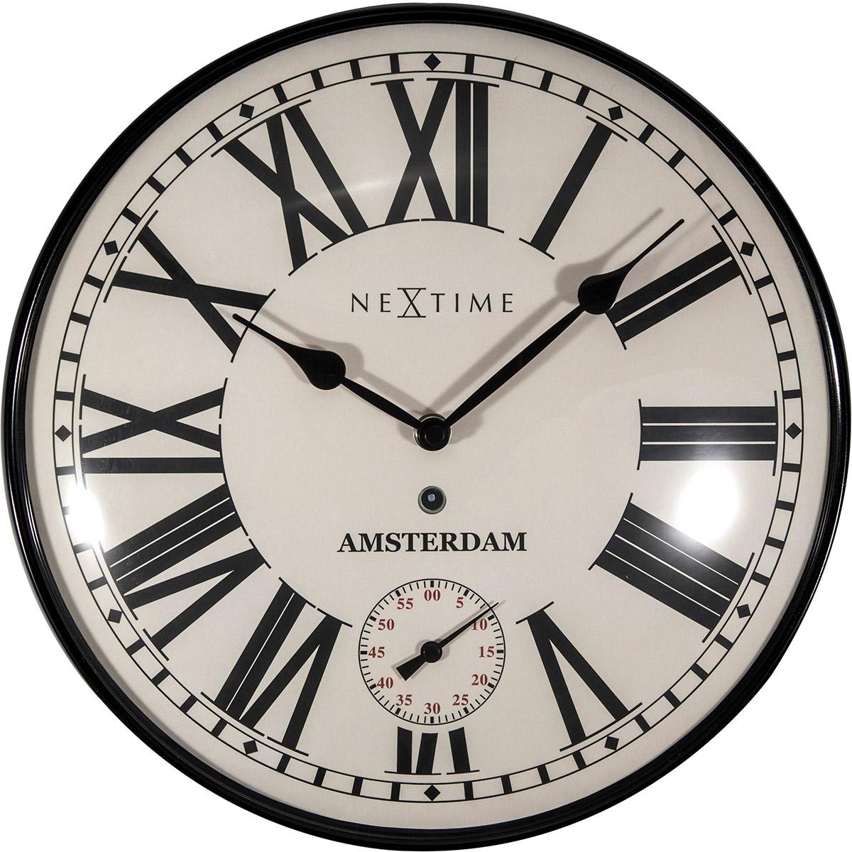 Zegar ścienny Z Oddzielnym Sekundnikiem Amsterdam Dome Nextime 30 Cm