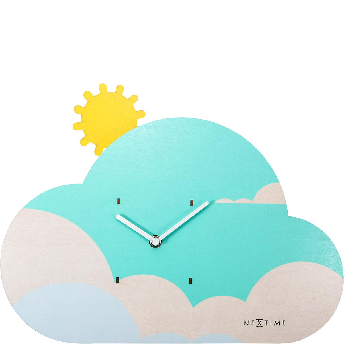 Zegar ścienny Z Wahadłem Do Pokoju Dziecięcego Cloudy Nextime