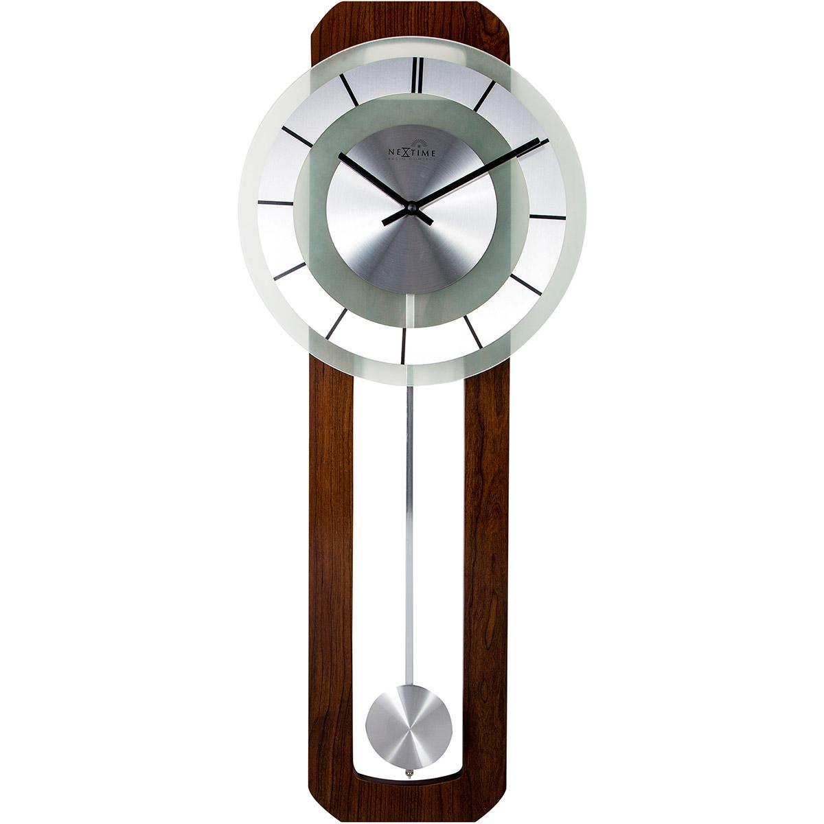 Zegar ścienny Z Wahadłem Retro Sterowany Radiowo Nextime 32 X 80 Cm