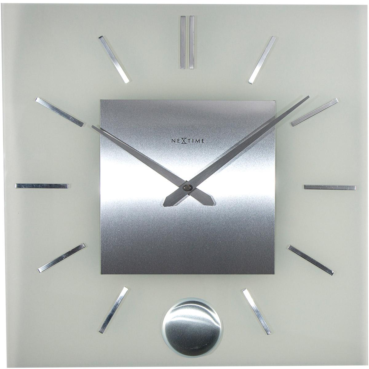 Zegar ścienny Z Wahadłem Stripe Nextime 40 X 40 Cm
