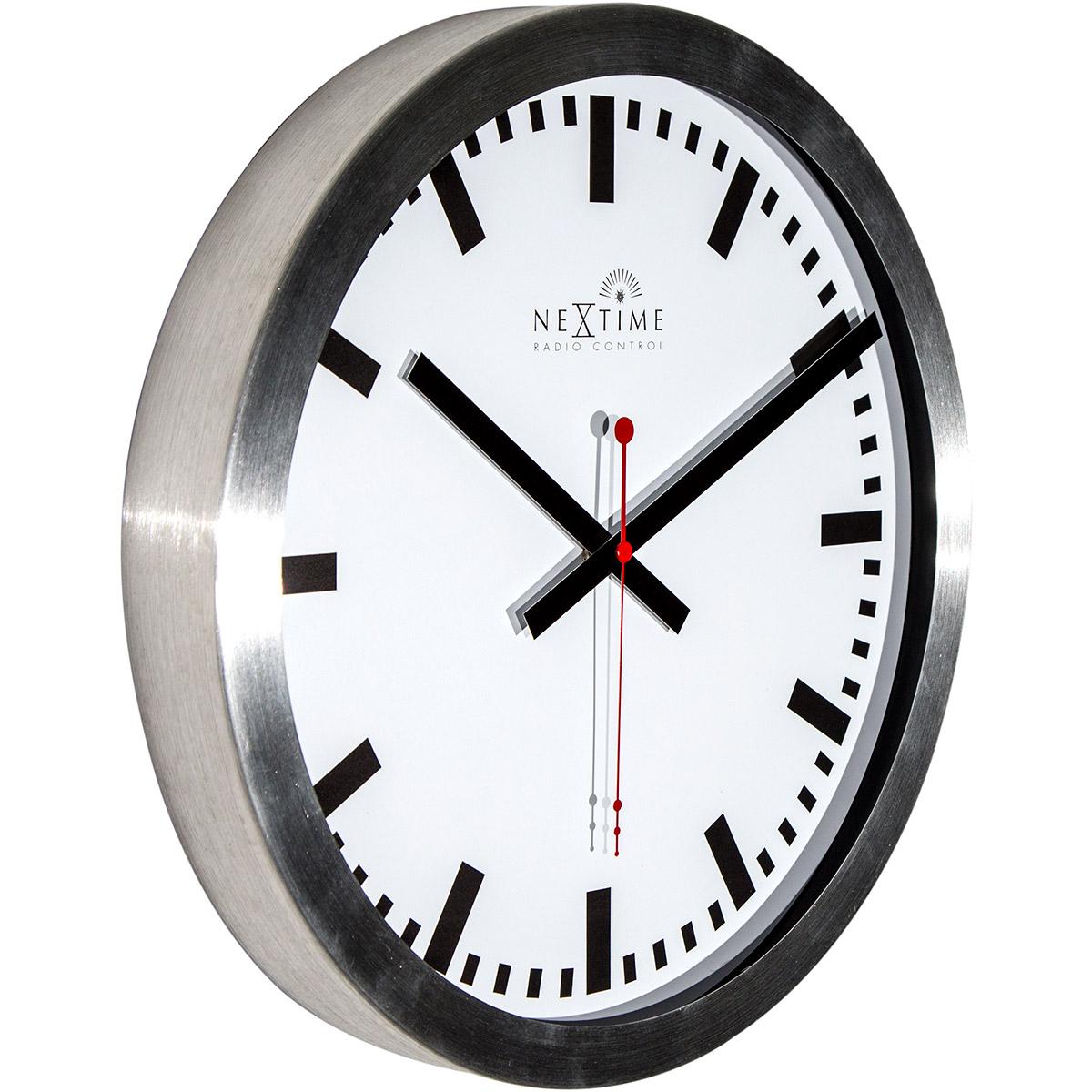 Zegar ścienny Ze Sterowaniem Radiowym Nextime Station 35 Cm